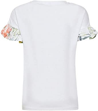 NAME IT Camiseta Niña Blanca Shine 13165554: Amazon.es: Ropa y accesorios