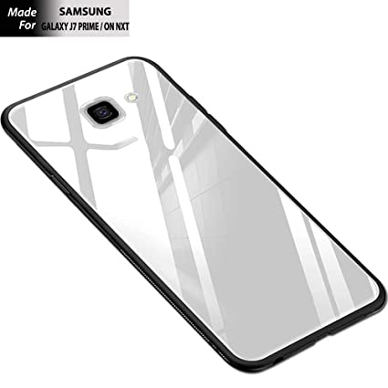 the latest 9e803 d3582 KARWAN Glass Back Cover for Samsung Galaxy J7 Prime: Amazon.in ...