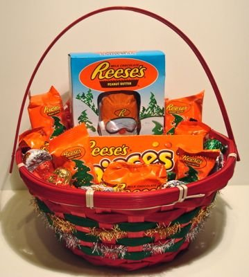 reesess peanut butter trees christmas candy gift basket