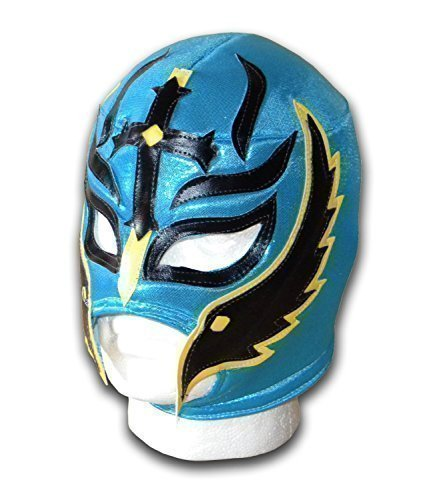 Wrestling Masks UK Men's Son of Devil Mexican Mask One Size Turquoise