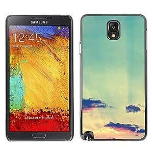 PC/Aluminum Funda Carcasa protectora para Samsung Note 3 N9000 N9002 N9005 teal sky clouds sunset sun summer / JUSTGO PHONE PROTECTOR
