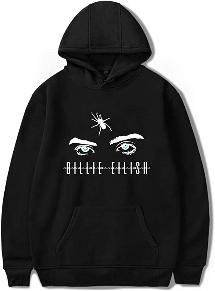 SAROULU Billie Eilish Hoodie Merch Unisex Bored Sweatershirt Pullover for Fan Support Hooded