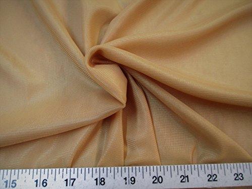 Yard Fabric Nylon 40 Denier Tricot Stretch Tan 108 inch Wide TR05
