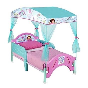 sc 1 st  Amazon.com & Amazon.com : Nickelodeon Dora the Explorer Canopy Toddler Bed : Baby