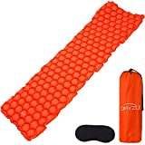 Cheap Dryzle Inflatable Lightweight Sleeping Pad – Compact Bed & Ultralight Camping Air Mattress Foam Pads, Portable Blow Up Mat Great Backpacking, Travel, Outdoor Hiking