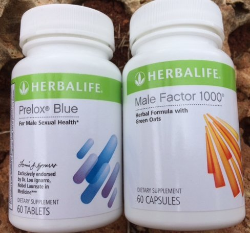 Herbalife Prelox Blue and Herbalife Male Factor 1000 Combo