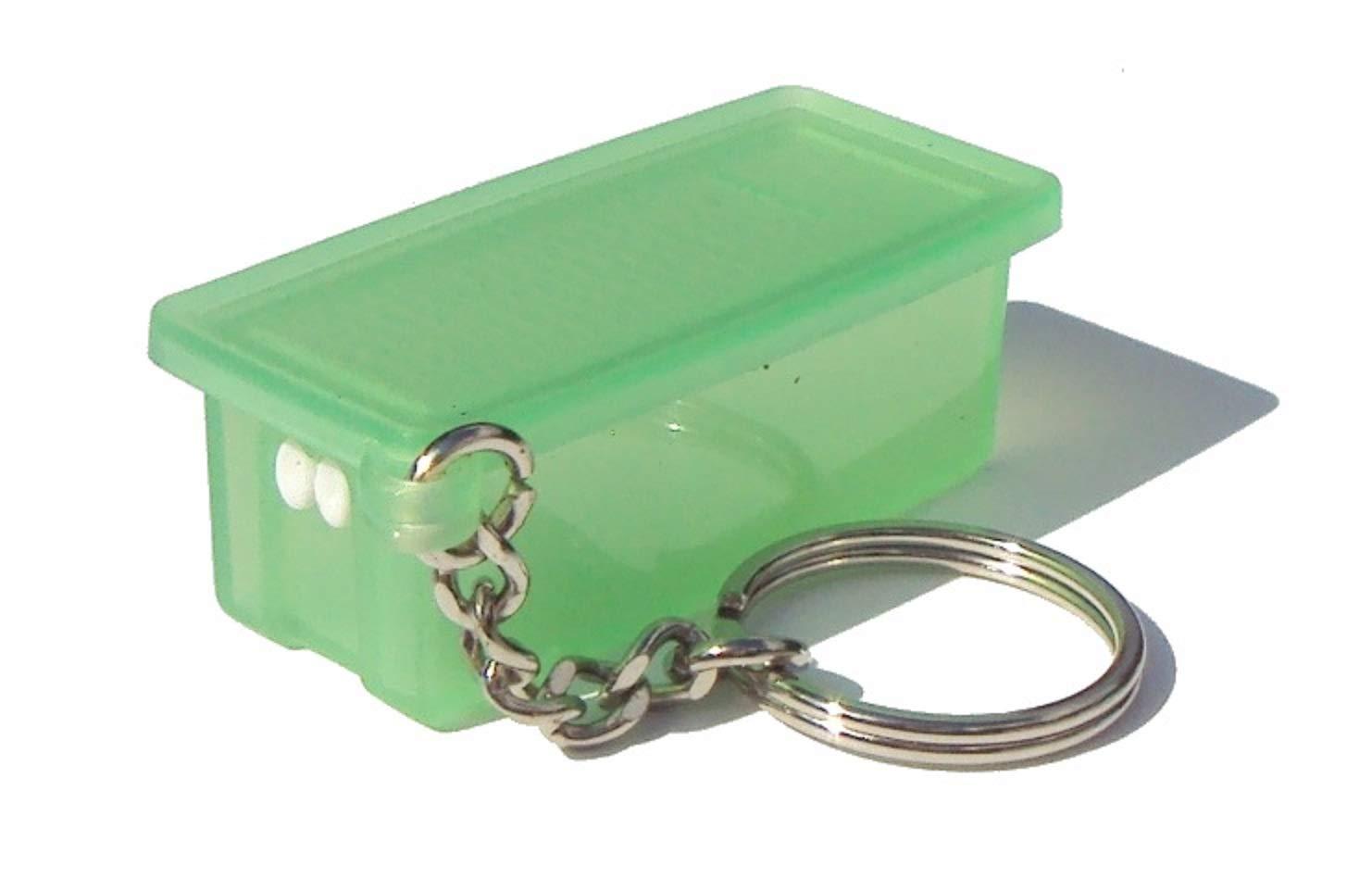 Tupperware Keychain FridgeSmart Pill Storer Green Free shipping