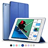 New iPad 2017 iPad 9.7 inch Case, ESR Ultra Slim Lightweight Smart Case Trifold Stand with Auto Sleep/Wake Function, Microfiber Lining, Hard Back Cover for Apple New iPad 9.7-inch,Navy Blue