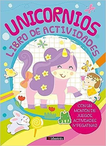libro de actividades de unicornio