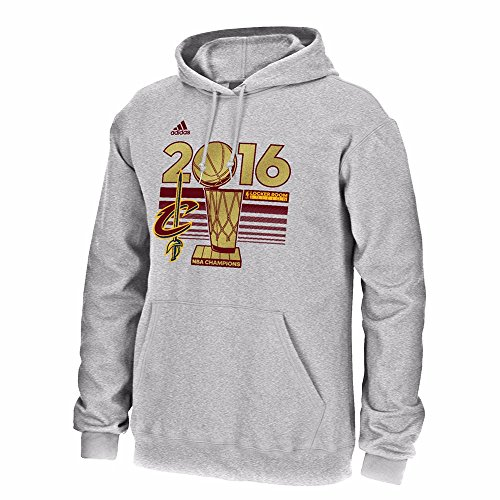 (adidas Cleveland Cavaliers 2016 NBA Finals Champs Official Locker Room Grey Hooded Sweatshirt/Hoodie Small)