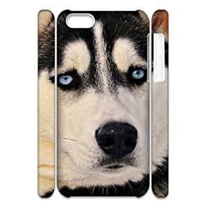 QSWHXN Customized 3D case Cute Dog for iPhone 5C