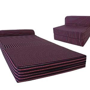 Amazon Com Multi Color Stripes Sleeper Chair Folding