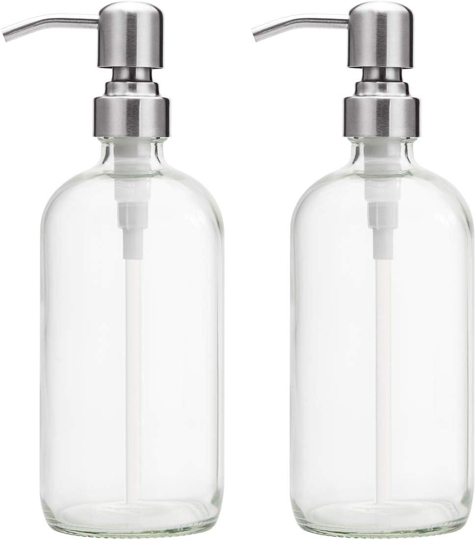 Hand Cream Empty Glass Bottle & pump