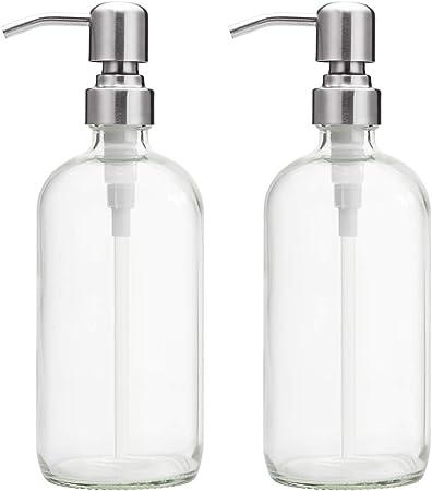 You Make Me Smile 16 oz Glass Soap Dispenser