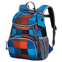 Jack Wolfskin Little Joe Kids Backpack Classic Blue Checks