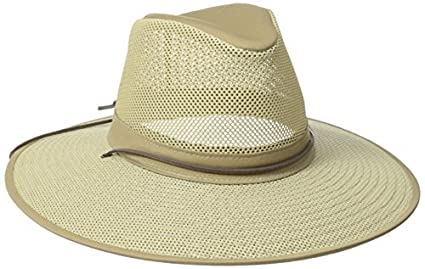 b42816780ef Image Unavailable. Image not available for. Color  Henschel Crushable Soft  Mesh Aussie Breezer Hat ...