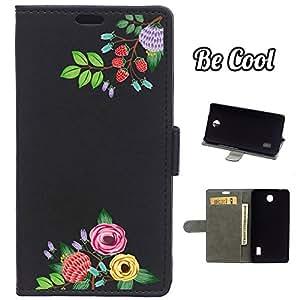 BeCool® - Funda carcasa tipo Libro para Huawei Ascend Y635 protege tu Smartphone ya que se adapta a la perfección, tiene Función Soporte, ranuras para tus tarjetas y billetes sin olvidar nuestro exclusivo diseño