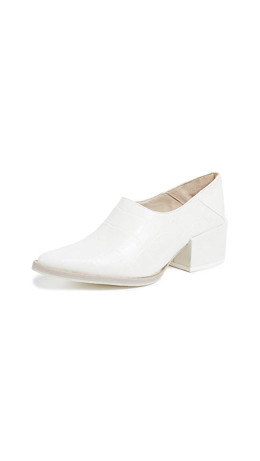 Freda Salvador Women's Crescent Block Heel Booties B07D4L7QGN 8.5 B(M) US|White