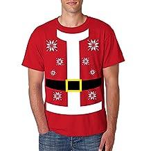 Allntrends Men's T Shirt Santa Claus Suit Ugly Christmas Sweater