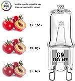 G9 Halogen Bulb 120V 40W T4 Type 2 Pin Base Light