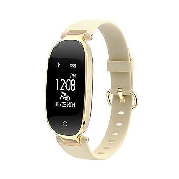 YFish Pulsera de Actividad Inteligente Elegante para Mujer Reloj Deportivo Bonito Smartwatch Podómetro Ritmo Cardíaco Compatible con Smartphone Móvil ...
