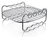 Double Layer Rack with 4 Skewers-A Universal Air Fryer Accessory...