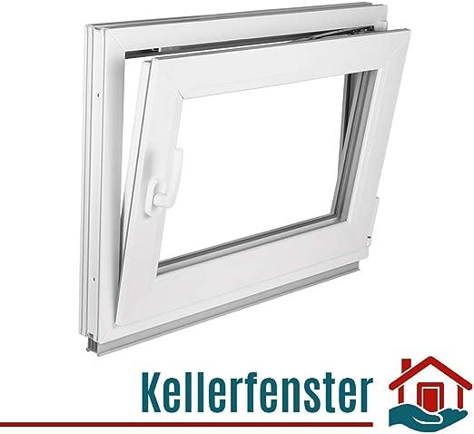 Kunststofffenster Fenster Kellerfenster Premium 2 fach ALLE GRÖßEN TOP