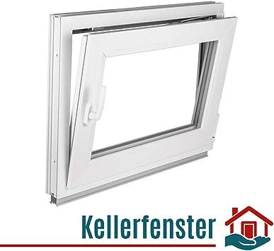 5 Kammer profile 2 fach weiß ISOGLAS Kellerfenster Fenster BxH 100x50 cm