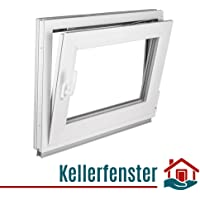 Kunststoff wei/ß BxH: 95 x 70 cm DIN links 2-fach-Verglasung Kellerfenster Lagerware Fenster