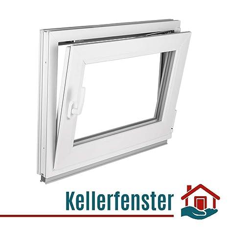 Kellerfenster Garagenfenster Kunststoff Fenster 2 Fach Dreh Kipp Breite 800 mm
