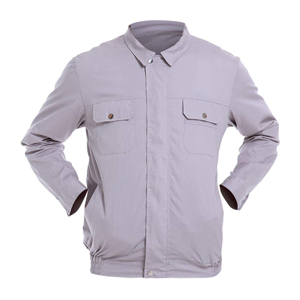Houshelp Workwear Equipped Cooling Jacket Fan Summer Outdoors Air-Conditioned Clothes Unisex Available with Battery Pack for