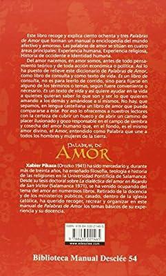 Palabras de amor. Guía de amor humano y cristiano Biblioteca Manual Desclée:  Amazon.es: Pikaza Ibarrondo, Xabier: Libros