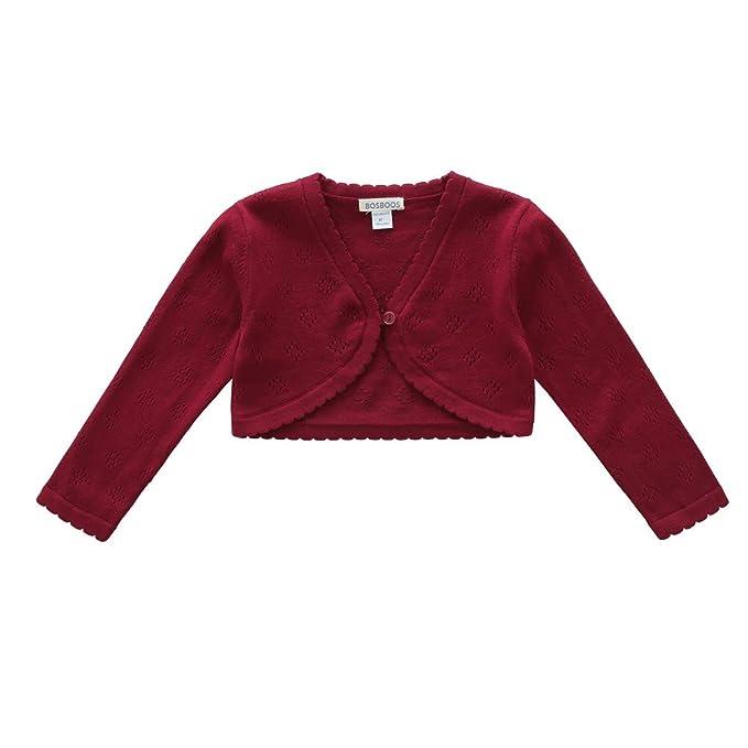 49d72b754203 Amazon.com  BOSBOOS Little Girls Long Sleeve Cotton Solid Knit ...