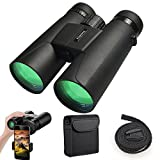 Binoculars for Adults Kids, 12X42 Professional HD Compact Durable Folding Waterproof & Fogproof Roof Prism Binocular Scope for Bird Watching Travel Stargazing Hunting Concerts Sports