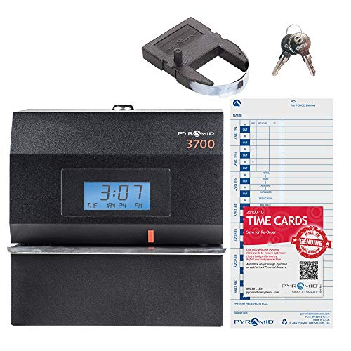 (Pyramid 3700 Heavy Duty Steel Time Clock and Document Stamp - Made in the USA)