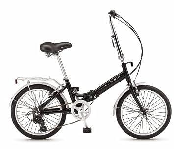 Schwinn S10WORF - Bicicleta plegables, rueda 20 in, color negro