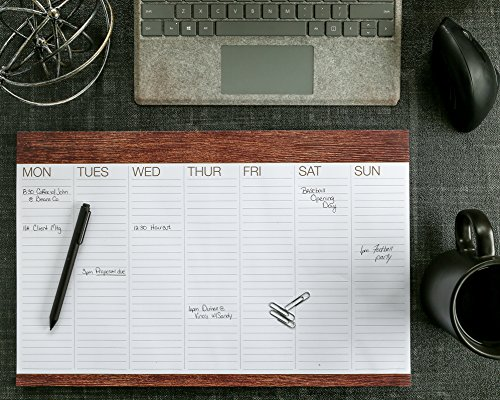 """Image of Weekly Desk to Do Pad 11""""x17"""" (Wood Pattern)"""