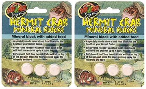 Zoo Hermit Crab ((2 Pack) Zoo Med Hermit Crab Mineral Blocks)