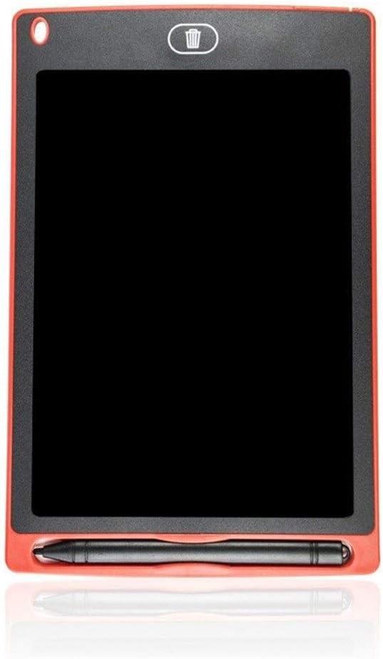 学生友だち家族のためのLCD画面ロックと書き込みタブレット8.5インチデジタル描画ボード電子式消去可能スケッチ落書きパッド玩具 ペン&タッチ マンガ・イラスト制作用モデル (Color : Red, Size : 8.5inch)