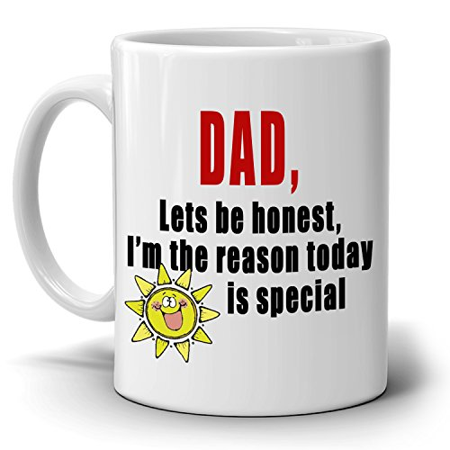 Cute Fathers Day Birthday Gift from Daughter Mug to Papa Dad Daddy, Printed on Both - Uk Amazon Co Voucher Gift