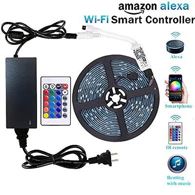 WenTop 5M-5050-RGB-Alexa Led Strip Lights Kit by FoxKonn