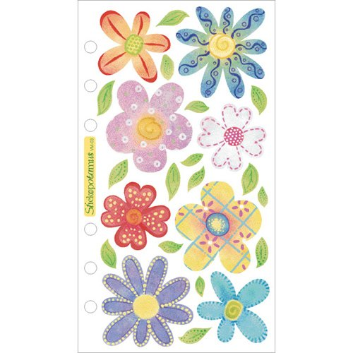 Sticko Vellum Stickers-Pastel Flowers