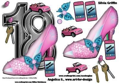 18 cumpleaños con rosa zapatos y Mini Cooper por Silvia ...