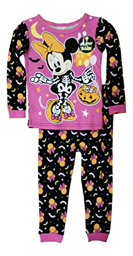 Disney Minnie Mouse Little Girls Toddler Halloween Pajama Set (5T)