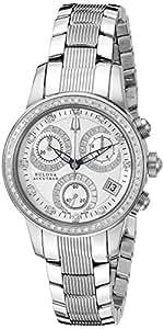 Bulova Women's 63R34 Masella Analog Display Swiss Quartz Silver Watch
