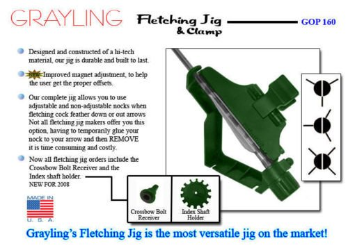 Grayling Fletching Jig with Right (Grayling Fletching Jig)