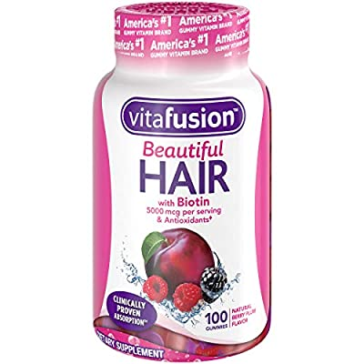 Vitafusion Vitafusion Beautiful Hair Gummy Vitamins, 100ct, Berry Plum, 100 Count