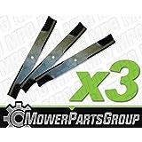 """D603 (3) Pack of Blades Fits Hustler Z Super Z XR-7 with 60"""" deck 795252"""