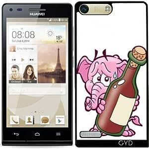 Funda para Huawei AscendP7 Mini - Elefante Hr Con Una Botella Gigante by Cadellin