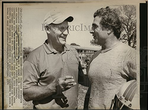 (Vintage Photos 1974 Press Photo Nick Buoniconti Vince Costaelle Miami Dolphins from A Newspaper Archive)